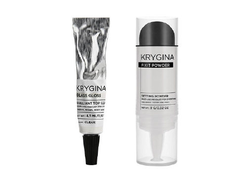 Мультифункциональная фиксирующая пудра Fixit Powder и блеск Glass Gloss, Krygina Cosmetics