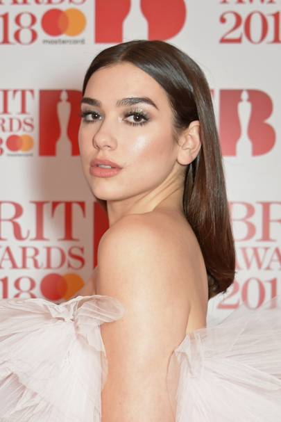 Dua Lipa did dew and glass hair before it was even a thing.