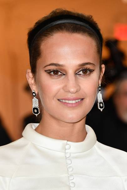 Speaking of eyeliner masterpieces, Alicia Vikander's Met Gala look basically inspired the return of the Cleopatra cat eye in 2018.