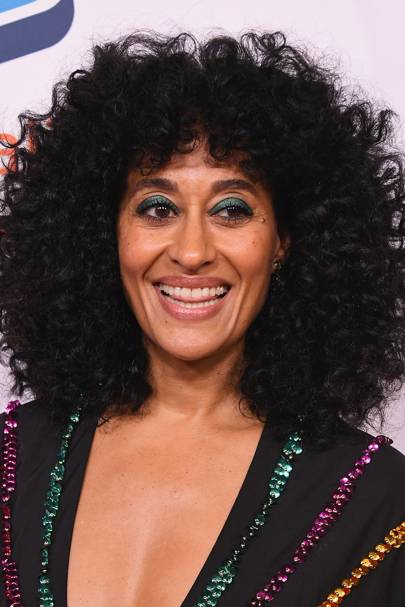 Big hair, an even bigger smile, and bright green eyes. Tracee Ellis Ross was a red carpet delight all year long, but this was one of our favourite moments.