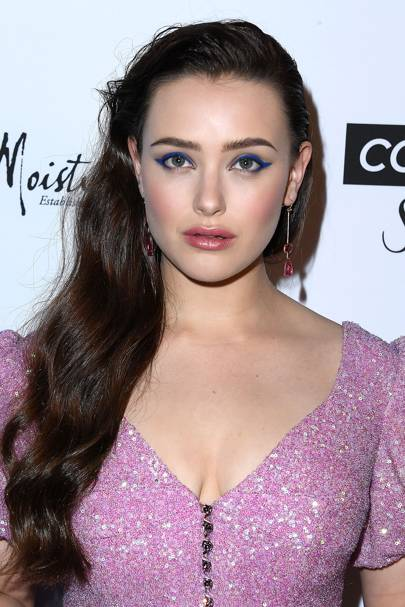 Katherine Langford's electric blue wings were such a simple, yet breathtaking swap from traditional black.