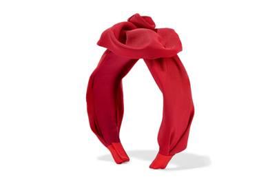 Faille Headband, £295, Jennifer Behr
