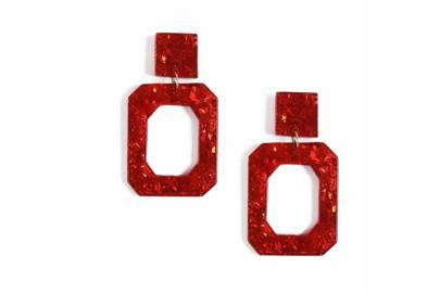 Glitter Resin Drop Earrings, £10, Topshop