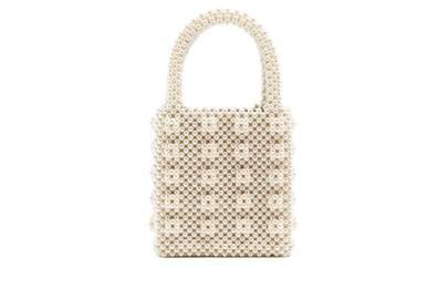 Faux-Pearl Embellished Bag, £450, Shrimps