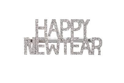 Happy New Year Hair Clip, £6, ASOS Design