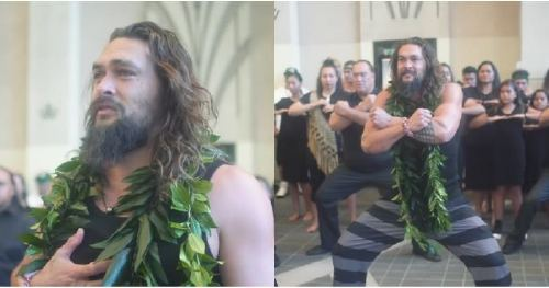 Jason Momoa Teared Up Before Doing the Haka With His Kids in Hawaii, and We're Crying Too