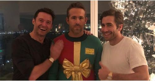 Hugh Jackman and Jake Gyllenhaal Just Trolled Ryan Reynolds's Ugly Christmas Sweater