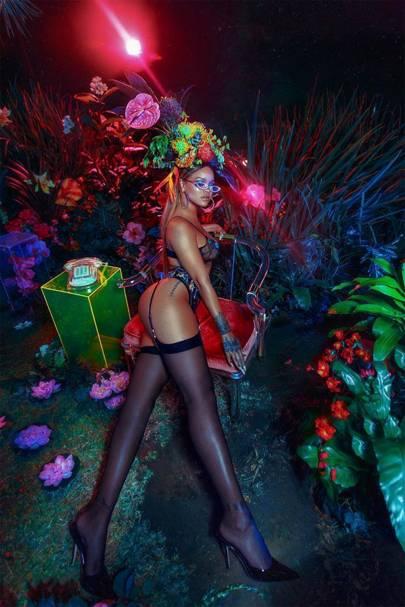 Rihanna looks sensational modelling her new Savage x Fenty lingerie range