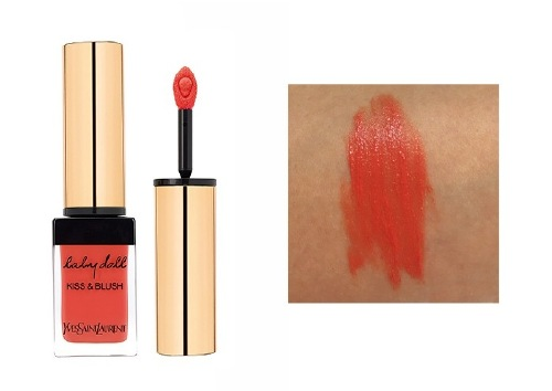 Пигмент для губ и щек Kiss&Blush, оттенок 4 Orange Fougueux, Yves Saint Laurent