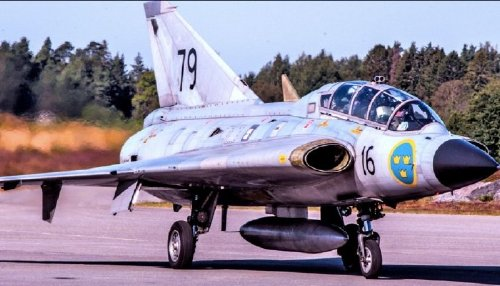 "Facts on Sweden's futuristic fighter, Saab-35 ""Draken"""