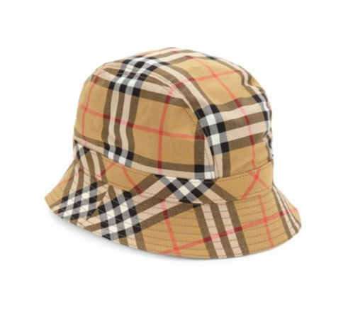 5 Burberry Rainbow Check Bucket Hat ($320; saks.com)