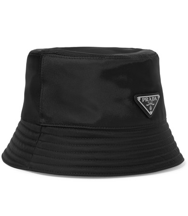 1 Prada Appliquéd Shell Bucket Hat ($340; net-a-porter.com)