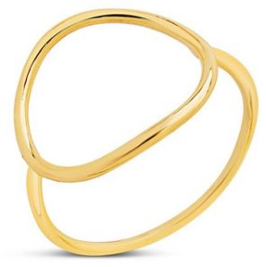 Sterling Forever 14K Gold Vermeil Open Circle Ring  -  ON SALE