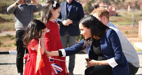 Harry and Meghan, Have Met So Many Kids, on Their Morocco Trip