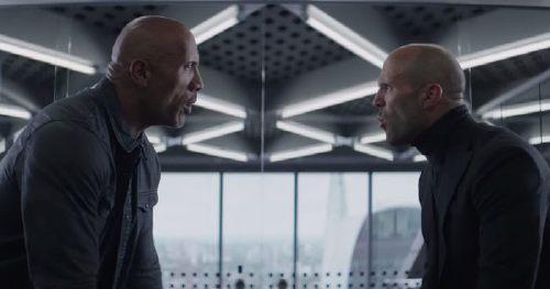Dwayne Johnson, and Jason Statham, Face Off Against a Superhuman Idris Elba