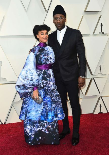 PHOTO: Amatus Sami-Karim and Mahershala Ali arrive at the Oscars, Feb. 24, 2019, at the Dolby Theatre in Los Angeles. (Jordan Strauss/Invision/AP)