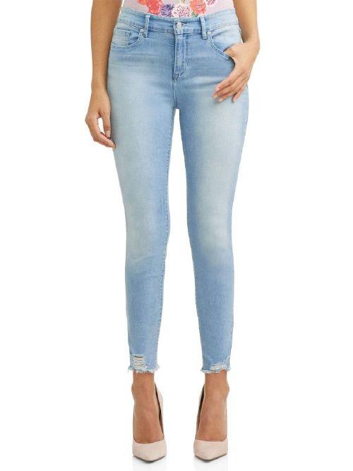 Sofía Jeans by Sofía Vergara Rosa Curvy High Waist Ripped Hem Ankle Jeans