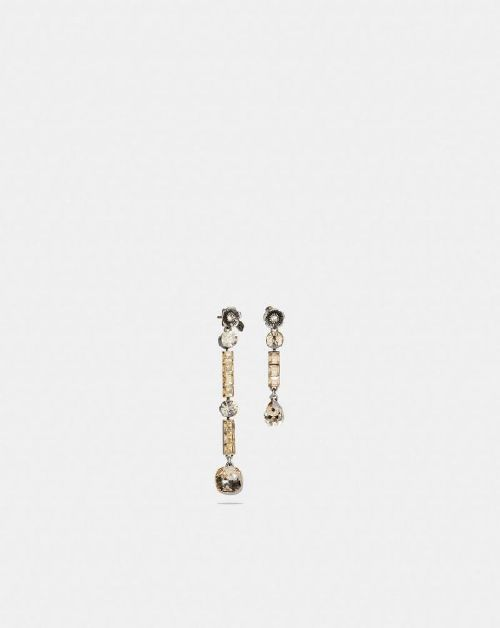 Coach Tea Rose Drop Earrings