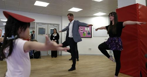 Prince Harry Grand Jetés His Way Into My Heart While Visiting a Kids' Ballet Class