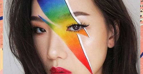 We went head-to-head with Ellis Atlantis to attempt a Bowie-inspired Pride look