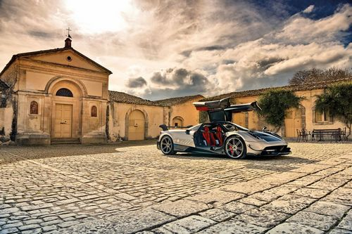 """The """"gullwing"""" doors of the Huayra BC are a tribute to the iconic Mercedes-Benz 300 SL."""