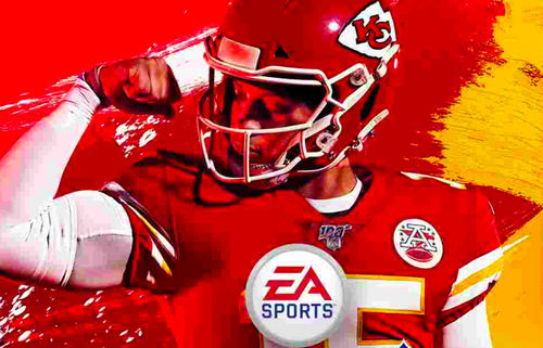 Patrick Mahomes on cover of Madden 20
