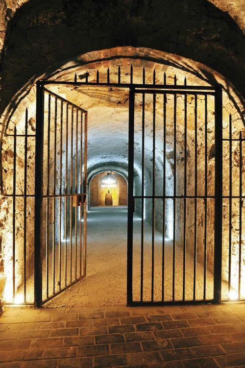 The historic Moët & Chandon cellars in Épernay, France.