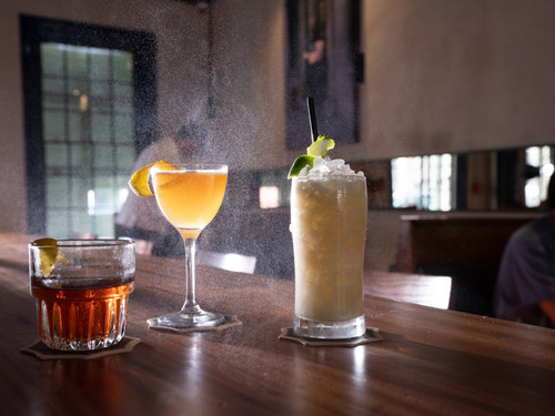 The Old Fashioned, Sidecar and Greena Colada at Longway Tavern.