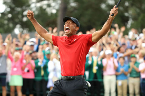 The moment Tiger Woods won