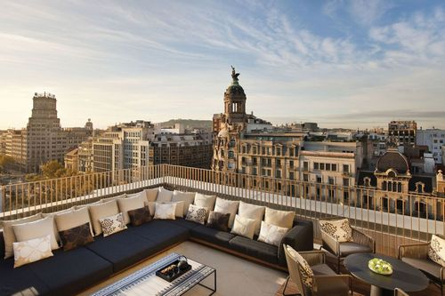 The rooftop at the luxurious Mandarin Oriental.