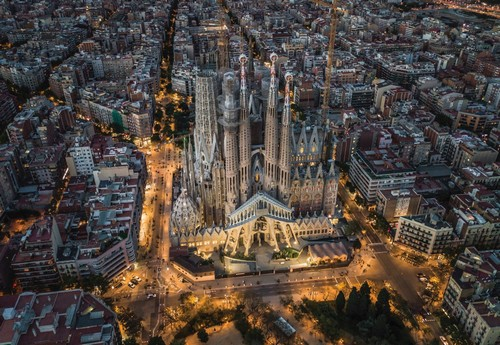 Designed by Antoni Gaudí, the still unfinished Sagrada Família is one of Europe's most striking architectural designs