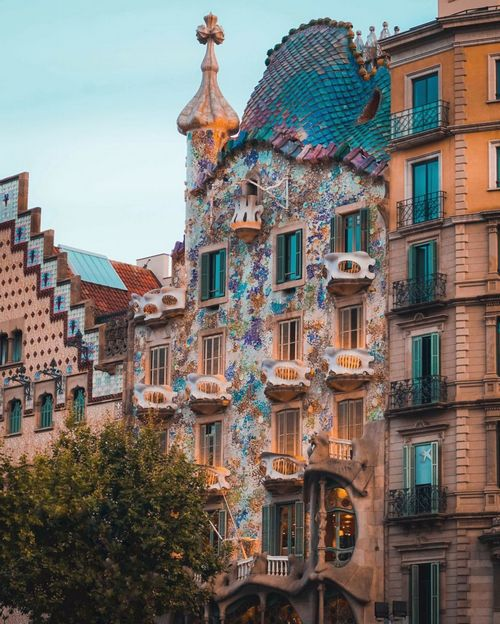Casa Batlló is a whimsical example of the playfulness and joy of Gaudí's designs.