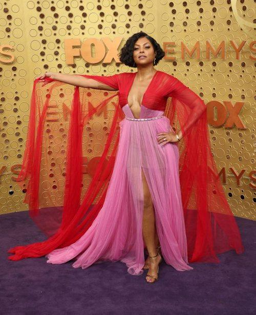 Jameela Jamil Mint Off-the-Shoulder Dress 2019 Emmys