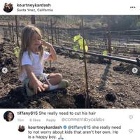 Kourtney Kardashian had the best response to a fan who said she needs to cut her son's hair