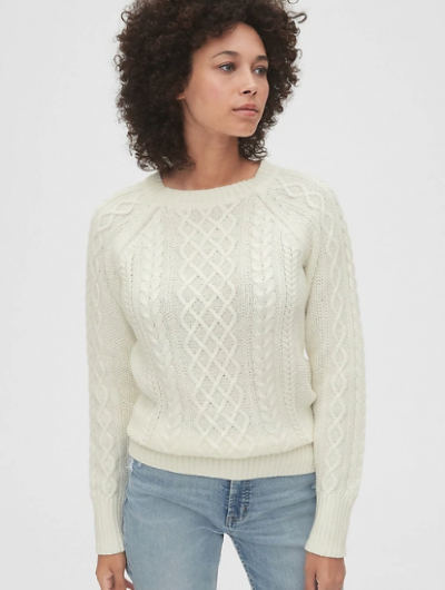 Why Social Media Is Obsessing Over A Simple Cable-Knit Sweater