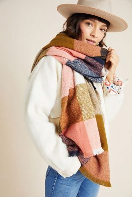 color blocked scarf