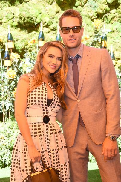 Justin Hartley and Chrishell Stause