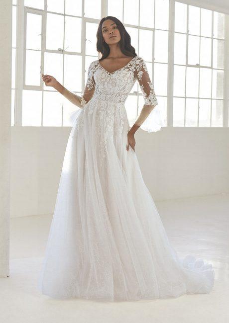 ashley graham pronovias plus-size wedding gowns