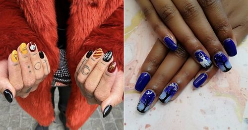 Harry Potter Nail Art That Will Cast a Spell on Everyone