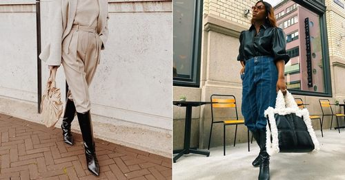 This Is How Fashion Girls Are Styling Knee-High Boots Right Now
