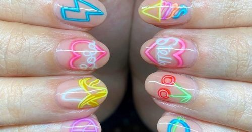 A Nail Artist Turned Neon Signs Into Our New Favorite Manicure