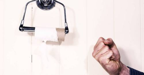 This amazing new period poverty campaign made men PAY for toilet paper