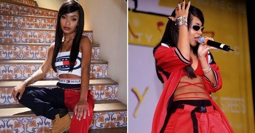 "Yara Shahidi Is ""That Somebody"" in This Badass Tommy Hilfiger Look Inspired by Aaliyah"