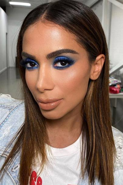 Blue eyeshadow is Instagram's new favourite trend
