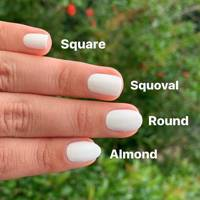 4 ways to style Oval-shaped nails are a classic