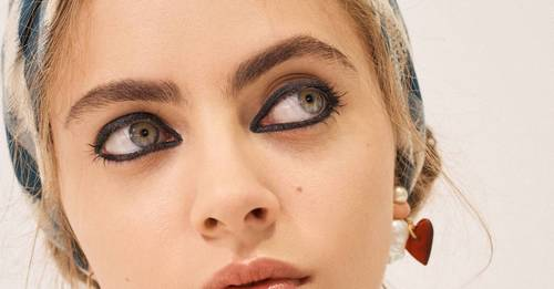 Picture frame liner and gauzy shadow, the beauty focus for Paris Fashion Week was all about the eyes