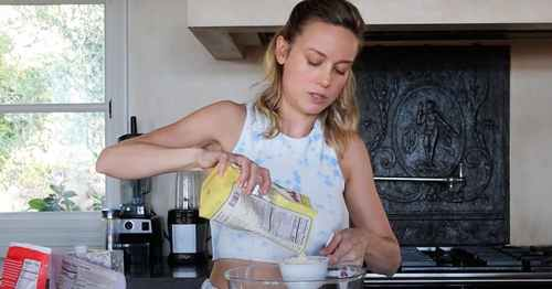 Brie Larson Baking Sugar Cookies Without a Recipe