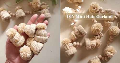 Cute This DIY Mini Winter Hat Garland Is – Here's How to Make It