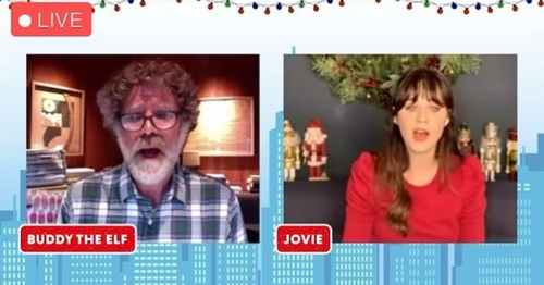 """Zooey Deschanel and Will Ferrell Reunite For Their Elf """"Baby, It's Cold Outside"""" Shower Duet"""
