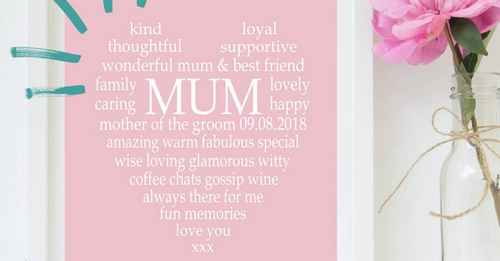 To thank your mum for her support on your wedding day